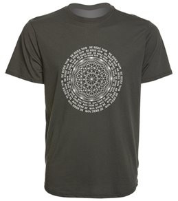 Spiritual Gangster Men's Be Here Yoga Tee