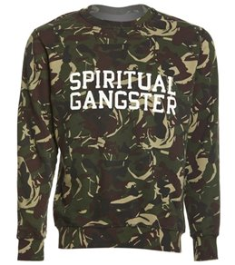 Spiritual Gangster Men's SG Varsity Crew Neck Long Sleeve Fleece