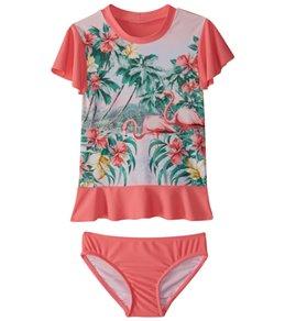 Seafolly Girls' Hawaiian Rose Rashguard Set (2T-7)