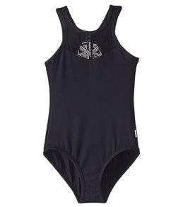 c1b038b656b29 Seafolly Girls' Summer Essentials High Neck One Piece Swimsuit ...