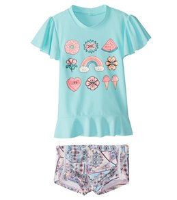 Seafolly Girls' S/S Rashguard Set (2T-7)