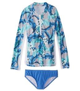 Seafolly Girls' Jungle Geo L/S Surf Set (6-14)