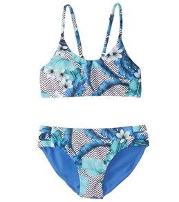 Seafolly Girls' Jungle Geo Reversible Tankini Set (6-14)