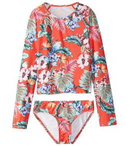 Seafolly Girls' Jungle Paradise L/S Surf Set (6-14)