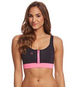GlideSoul Women's Half Zip Neoprene Bikini Top