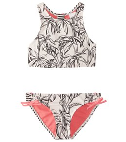 Roxy Girls' California Diary Crop Top Bikini Set (7-16)