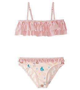 Roxy Girls' Cute Travel Flutter Bikini Set (2T-6)