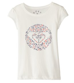 Roxy Girls' Rain or Shine Nice One Heart Tee (2T-7)