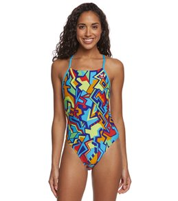 TYR Jazzy Fresh Crosscutfit Tieback One Piece Swimsuit