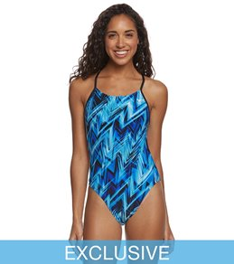 The Finals Onyx Cutoutfit Tie Back One Piece Swimsuit