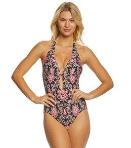 Kate Spade New York Oasis Beach Halter One Piece Swimsuit