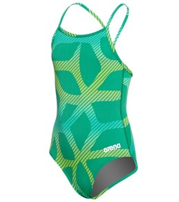 6fcfa52644 Arena Girls' Spider Light Drop Back One Piece Swimsuit