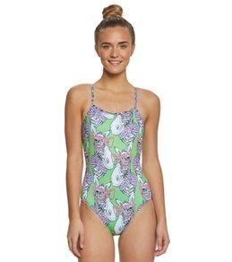 Amanzi Women's Zany Zebra One Piece Swimsuit