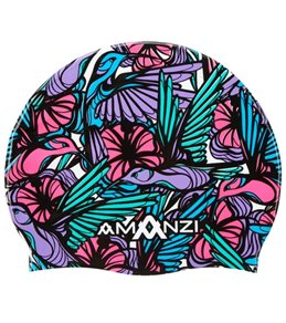 Amanzi Song Bird Silicone Swim Cap