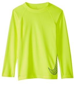 Nike Girls' Outline Swoosh Hydro L/S Rashguard