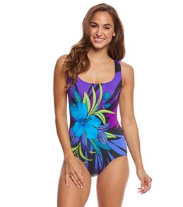 Longitude Pinata Scoopneck One Piece Swimsuit