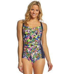 Funkita Women's Princess Cut Ruched One Piece Swimsuit