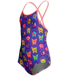 Funkita Toddler Girls' Pooch Party One Piece Swimsuit