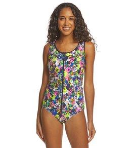 Funkita Women's Princess Cut Zip Front Tankini Swimsuit Top