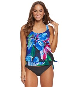 Maxine Bloom Blouson Tankini Top