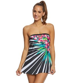 Maxine Fan Floral Retro Swimdress