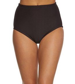 Maxine Solid Spa Chlorine Resistant High Waist Bikini Bottom