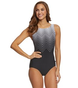 Reebok Diamond Mine Women's High Neck One Piece Swimsuit