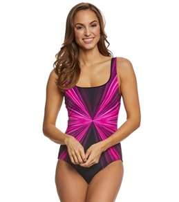 Active Spirit Pink Dimension Tank Swimsuit