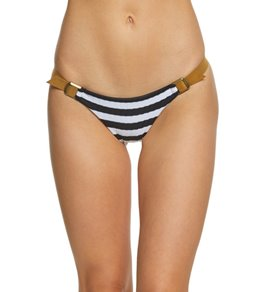 Blue Life Swimwear Stripe Buckled Skimpy Bikini Bottom