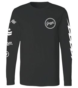 Grom Boys' Circle Script Long Sleeve Tee (Big Kid)