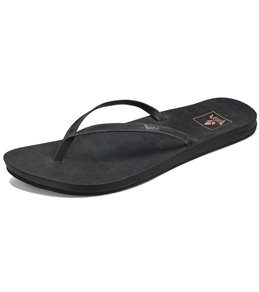 dccdd53ee Reef Women s Cushion Bounce Slim Leather Flip Flop