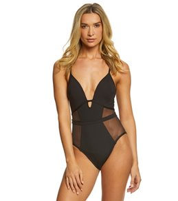 Kenneth Cole Sexy Solids Mesh Push Up One Piece Swimsuit