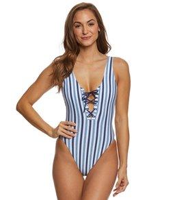 Splendid Tie Dye Stripe One Piece Swimsuit