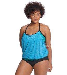 Nike Women's Plus Size Layered Sport Tankini Top