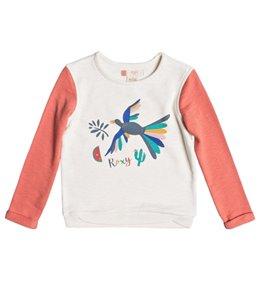 Roxy Girls' Gonna Win Birdy Bird Fleece Shirt (Little Kid)