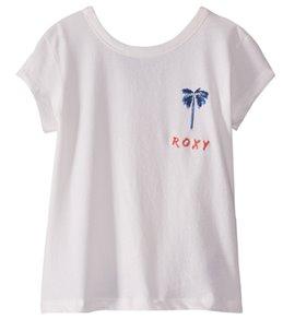 Roxy Girls' Tortilla Biscuit Palmier Papie Button Back Tee (Little Kid)