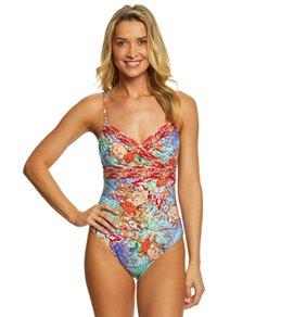Gottex Kyoto Surplice One Piece Swimsuit