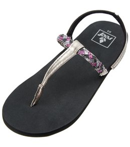 Reef Girls' Little Twisted T Strap Sandal (Toddler, Little Kid, Big Kid)