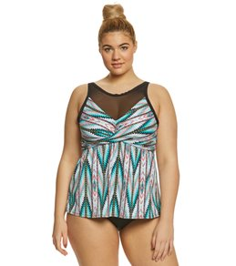 Coco Reef Plus Size Mojave Dreamweaver Tankini Top