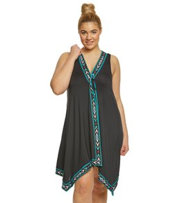 Coco Reef Plus Size Pacific Stone Scarf Cover Up Dress