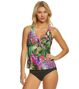 Jantzen Floral Tropical H-Back Tankini Top (D/DD Cup)