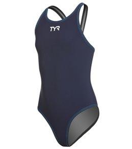 TYR Girls' Thresher Aerofit One Piece Swimsuit