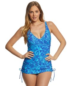 TYR Womens Monaco V-Neck Sheath Chlorine Resistant One Piece Swimsuit
