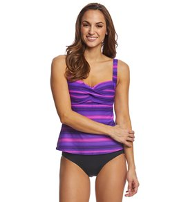 44a9155eb4 TYR Women's Tramonto Chlorine Resistant Twisted Tankini Top