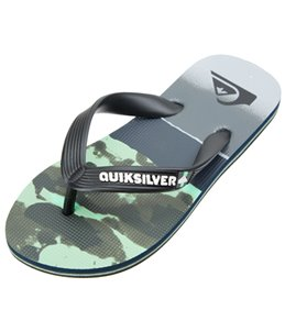 Quiksilver Boys' Molokai Blocked Resin Flip Flop