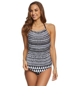 24th & Ocean Tribe Vibe High Neck Tankini Top