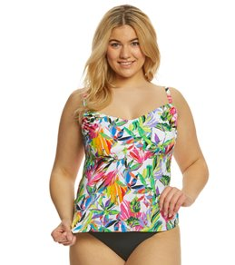 c40534102a9 24th   Ocean Plus Size Sayulita Sunset Adjustable Side Tankini Top