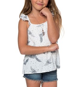 O'Neill Girls' Violet Flutter Tank (Toddler, Little Kid)