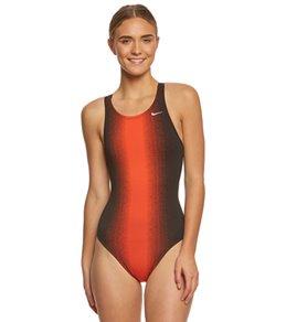 나이키 Nike Womens Fade Sting Fastback One Piece Swimsuit