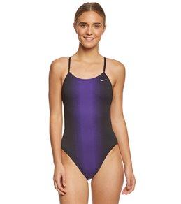 나이키 Nike Womens Fade Sting Cut Out One Piece Swimsuit